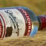 Russischer Wodka in einer Flasche